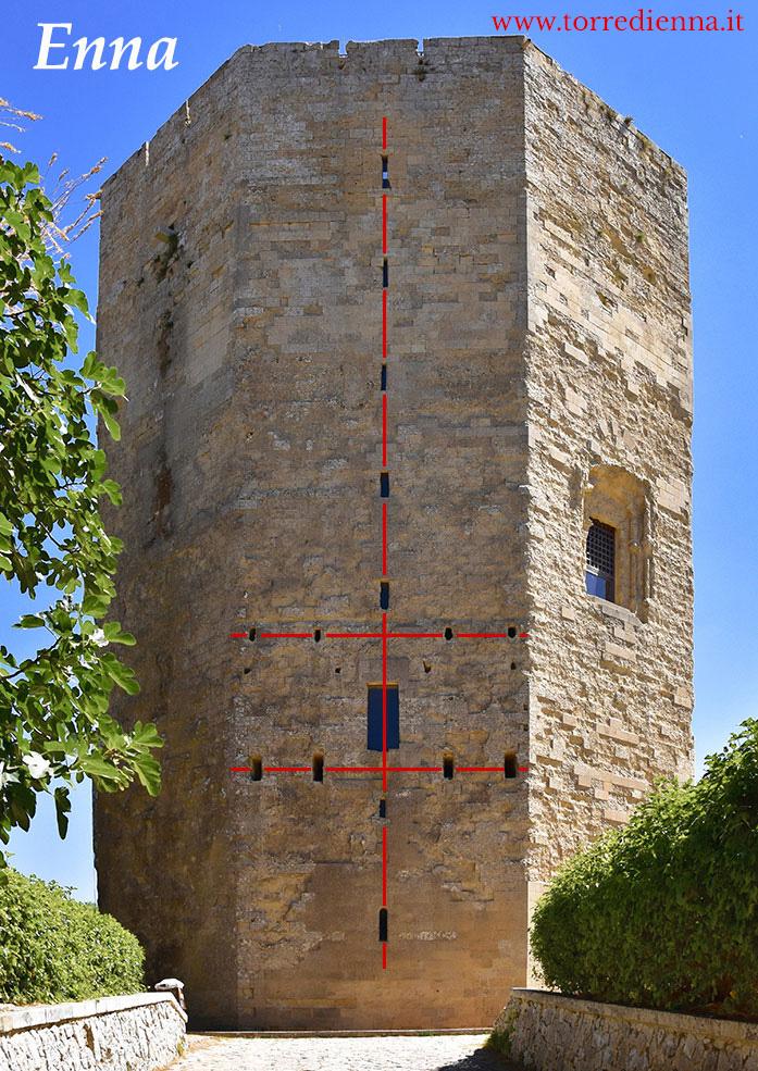 La Torre ottagonale  di Enna: il cuore della Sicilia