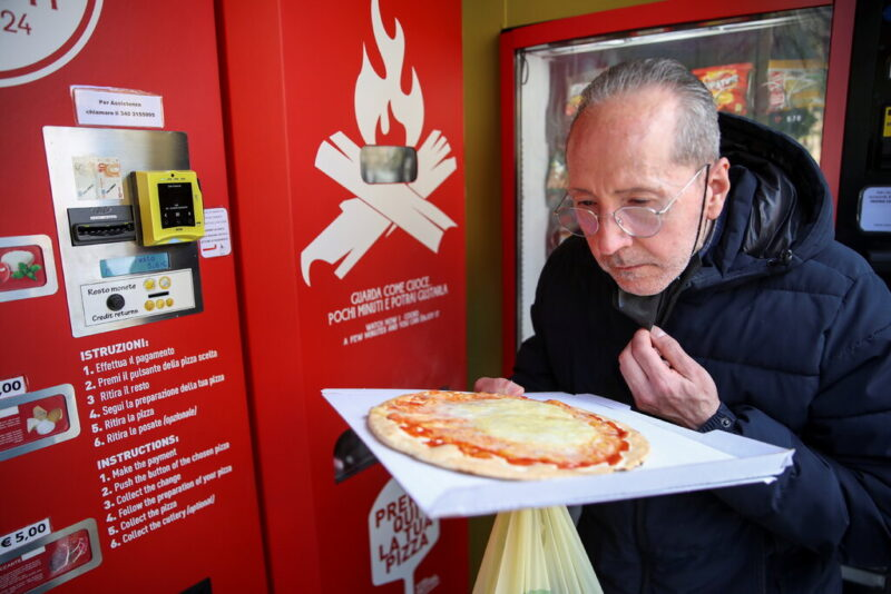 Rome Gets Its First Pizza Vending Machine.